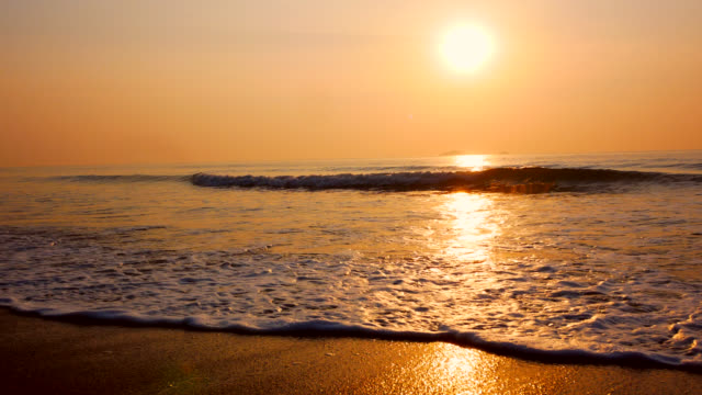 sunrise at vanagon beach .thailand - goa stock videos & royalty-free footage