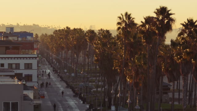 sunrise at venice beach, los angeles california - city of los angeles stock videos & royalty-free footage