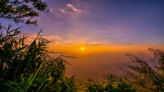 sunrise at viewpoint on a mountain time lapse - high dynamic range imaging stock videos and b-roll footage