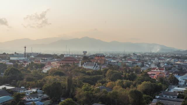 t/l sunrise cityscape time lapse video of chonburi, thailand - chonburi province stock videos & royalty-free footage