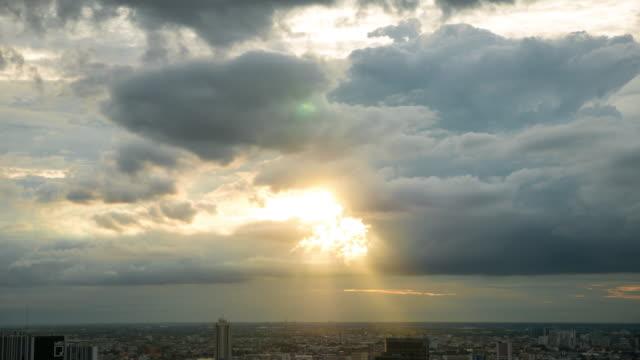 タイの首都バンコクでダウンの日の出 - 時点の映像素材/bロール