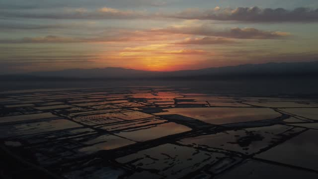 sunrise drone video of yuncheng salt lake in north china's shanxi province. footage by: costfoto / barcroft studios via getty images - gold coloured stock videos & royalty-free footage