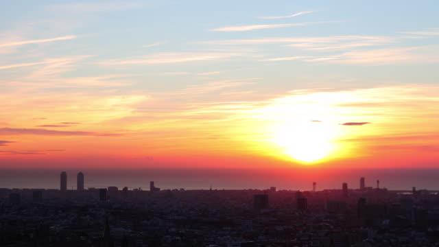 Sunrise in Barcelona 4K