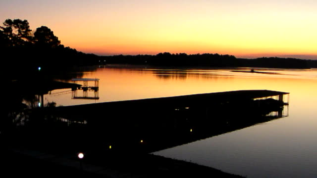 sunrise in lake - arkansas stock videos & royalty-free footage