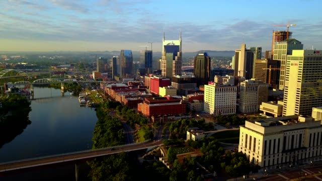 sunrise in nashville - tennessee video stock e b–roll