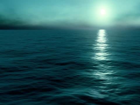 Sunrise in ocean. Loop.