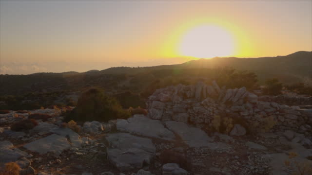 sunrise in rural setting in crete, greece - shack stock videos & royalty-free footage