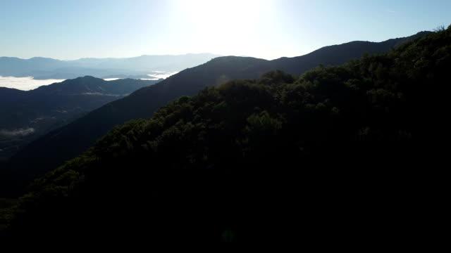 sunrise in santa ynez mountains - サンタイネス点の映像素材/bロール