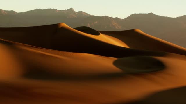 sonnenaufgang in der wüste. zeitraffer - sanddüne stock-videos und b-roll-filmmaterial