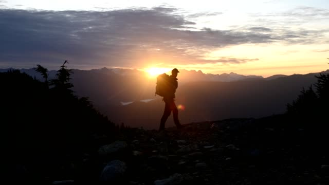 sunrise in the mountains - british columbia stock videos & royalty-free footage