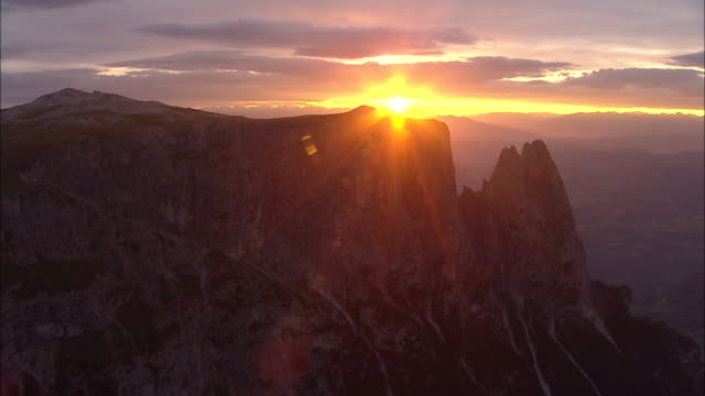 Sunrise in the rock