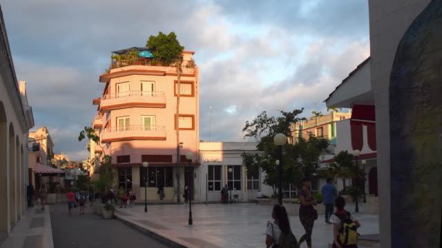 sunrise in the santa clara boulevard, cuba - local landmark stock videos & royalty-free footage