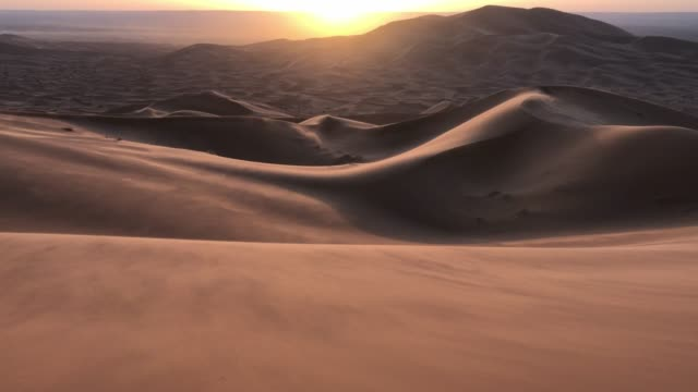 sunrise in the windy desert of morocco - 4k resolution stock videos & royalty-free footage