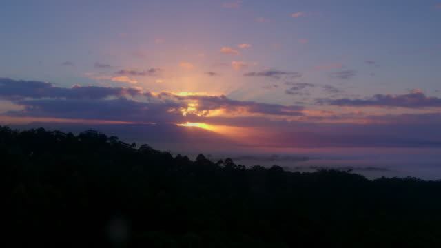 sunrise, mount dandenong, dandenong ranges, victoria - sunrise dawn stock videos & royalty-free footage