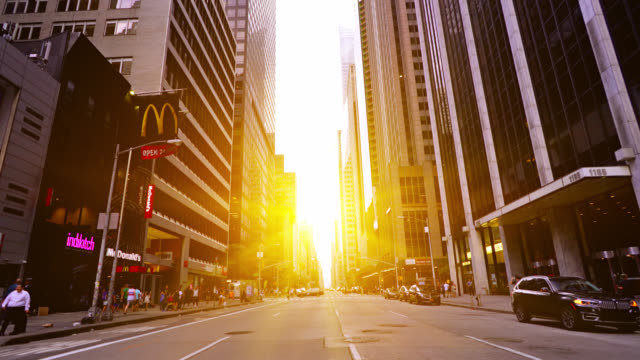 sunrise new york street. 6th avenue - crossing stock videos & royalty-free footage