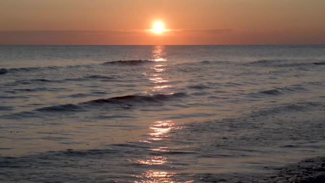 sunrise north atlantic - horizon over water stock-videos und b-roll-filmmaterial