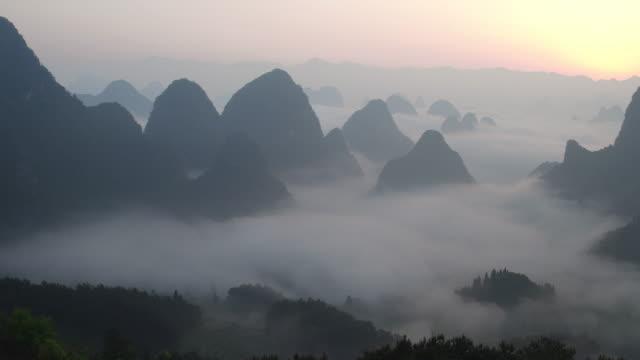 Sunrise of Lijiang River,Yangshuo,Guilin,Guangxi,China