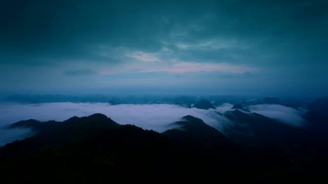 sunrise of lijiang river,yangshuo,guilin,guangxi,china - yangshuo stock videos & royalty-free footage