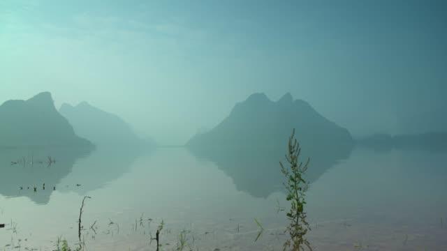 Sonnenaufgang von Lijiang-Fluss, Yangshuo, Guilin, Guangxi, China