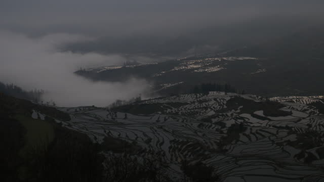 sunrise of rice terraced field - asian tribal culture stock videos and b-roll footage