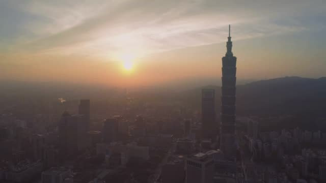 Sunrise of Taipei city, Taiwan