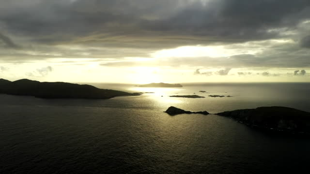 sunrise off coast of munster, ireland - atmosphere filter stock videos & royalty-free footage