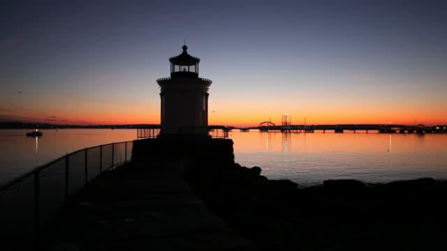 sunrise on casco bay in portland - maine bildbanksvideor och videomaterial från bakom kulisserna
