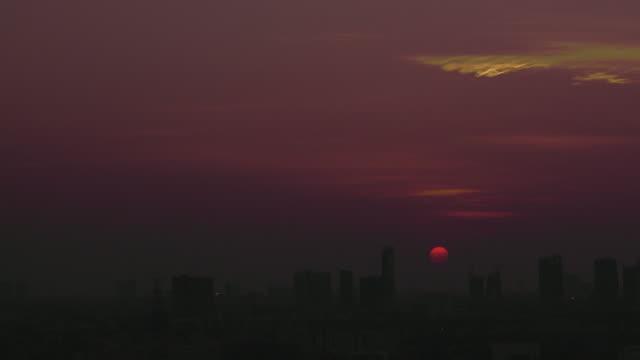 Sunrise On City Time-lapse