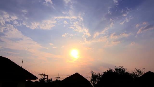 Sunrise on house