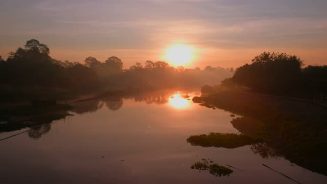 sunrise on river shot by smart phone - telecommunications equipment stock videos & royalty-free footage