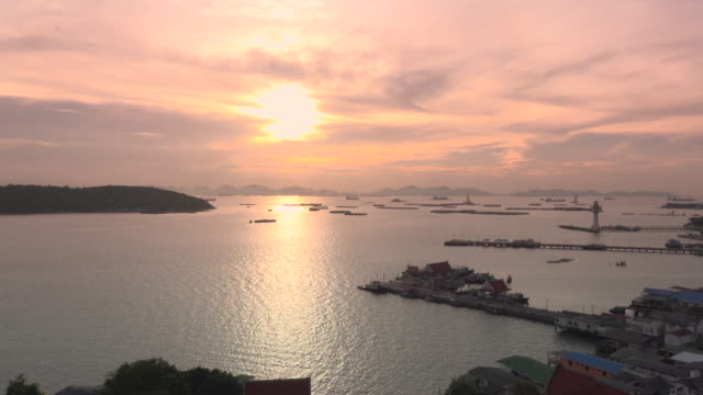 sunrise on srichang island thailand - landscaped stock videos and b-roll footage