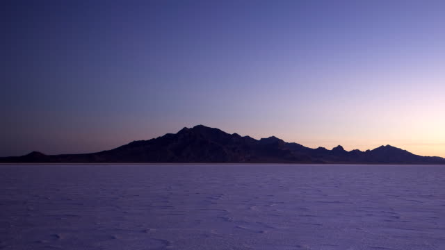 sunrise on the bonneville salt flats. - bonneville salt flats stock videos and b-roll footage