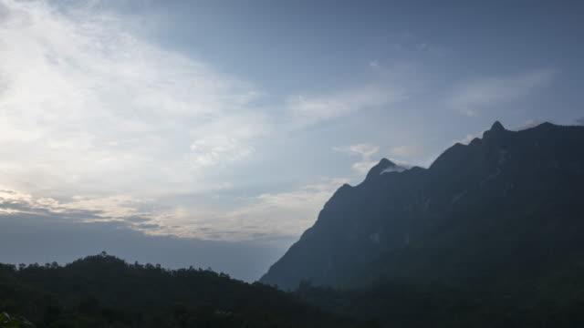 Sunrise on the Chiangdao mountain peak