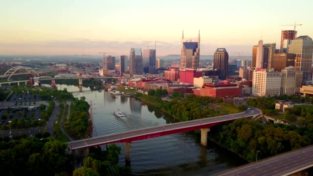 sunrise on the nashville skyline - nashville stock videos & royalty-free footage