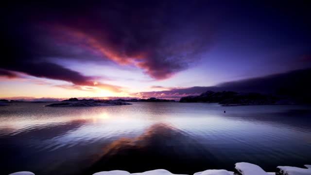 Sunrise over Arctic Ocean