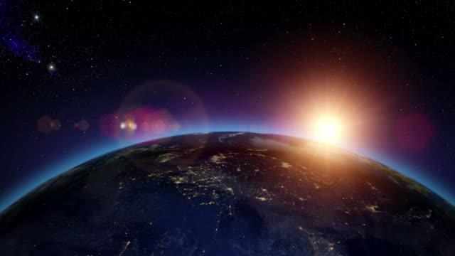 Sunrise over Asia