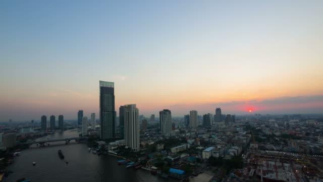 Sunrise over Bangkok city