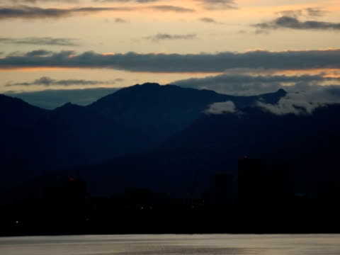 t/l sunrise over city, anchorage, alaska, usa - anchorage alaska stock videos & royalty-free footage