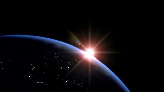vídeos y material grabado en eventos de stock de sunrise over earth - land