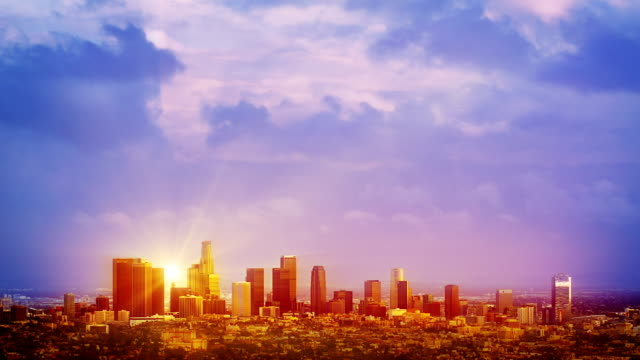 Sunrise over Los Angeles