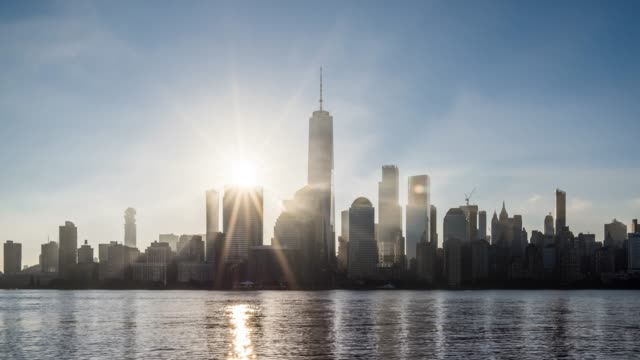 t/l ms sunrise over lower manhattan / new york city, usa - hope stock videos & royalty-free footage