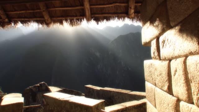 sunrise over machu picchu, peru - machu picchu stock videos & royalty-free footage