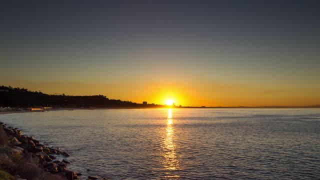 sunrise over malibu - time lapse - malibu stock videos and b-roll footage