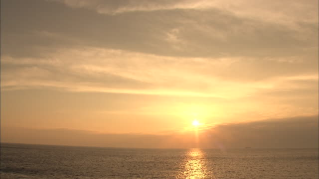 Sunrise Over Ocean Horizon