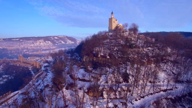 Sunrise over old town of Veliko Tarnovo
