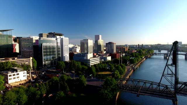 sunrise over portland oregon. - portland oregon stock videos & royalty-free footage