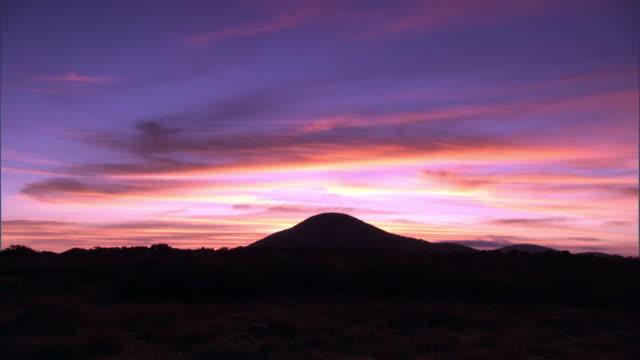 Sunrise over savannah, Aberdare, Kenya