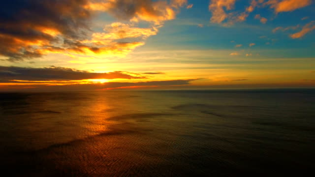 sunrise over sea, aerial video - overhead projector stock videos & royalty-free footage