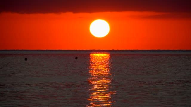 Sunrise over sea at the bay of Alcudia, Majorca, Balearic Islands, Spain, Mediterranean, Europe