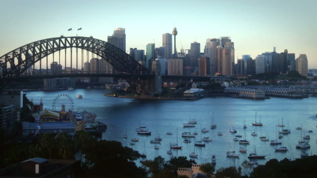 Sunrise over Sydney Harbor